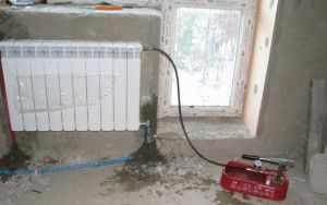 Заполнение системы теплоносителем
