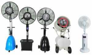 Различные модели вентиляторов-увлажнителей