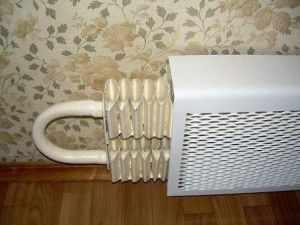Решетка на стальном радиаторе