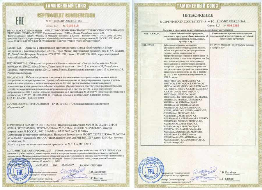 сертификат-кввг