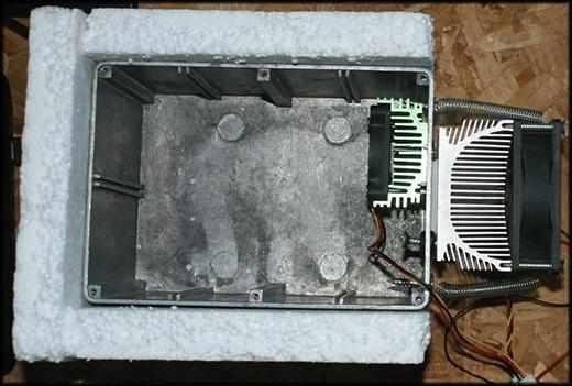 Самодельный холодильник с использованием элемента Пельтье