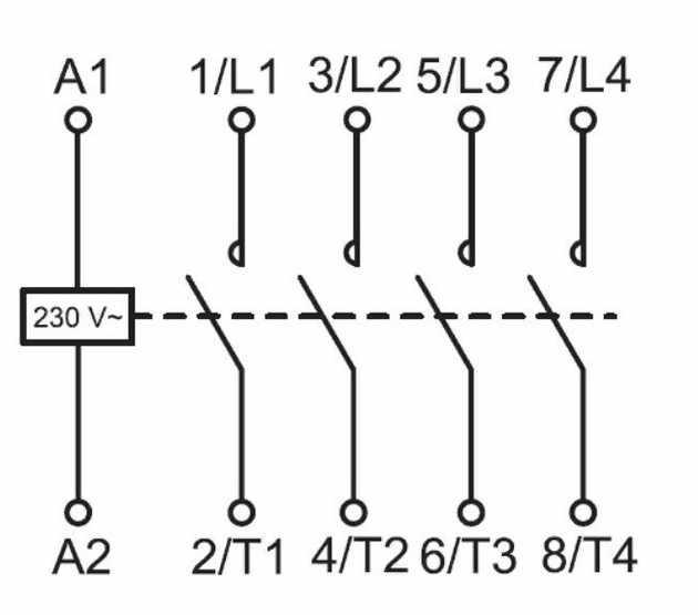 Модульный контактор 2