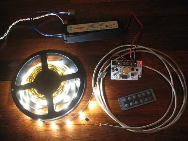 Проверка работоспособности светодиодной ленты