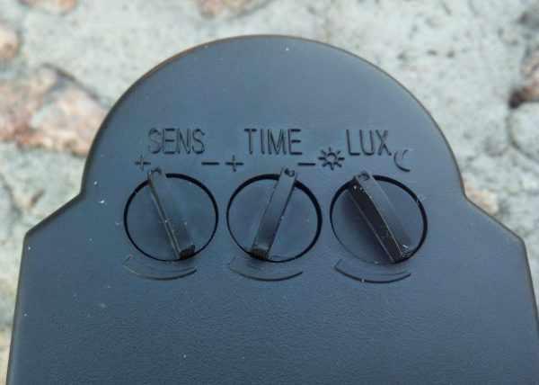 Регуляторы для настройки выключателя с датчиком движения