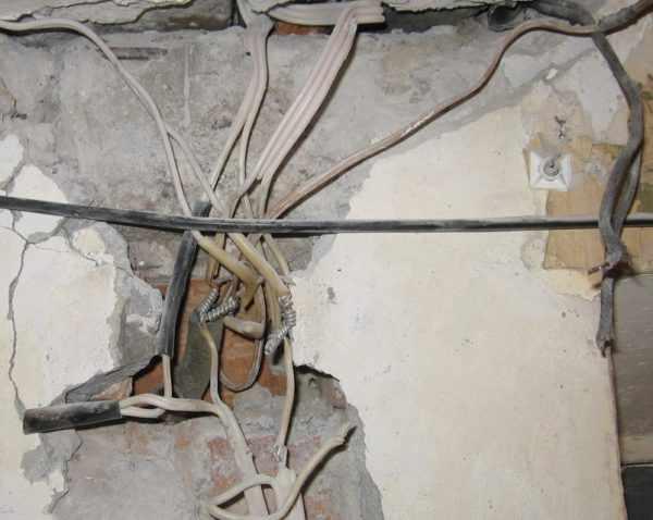 Старая алюминиевая проводка