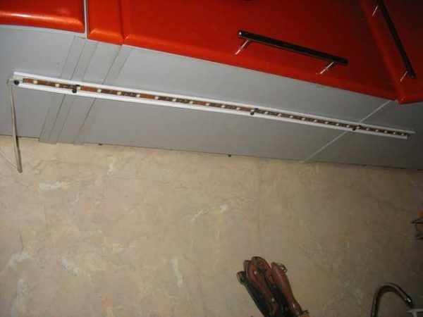 Монтаж LED-ленты на кухне