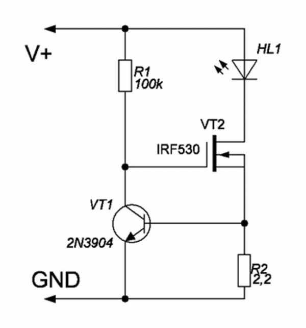 Схема для самостоятельной сборки LED-драйвера