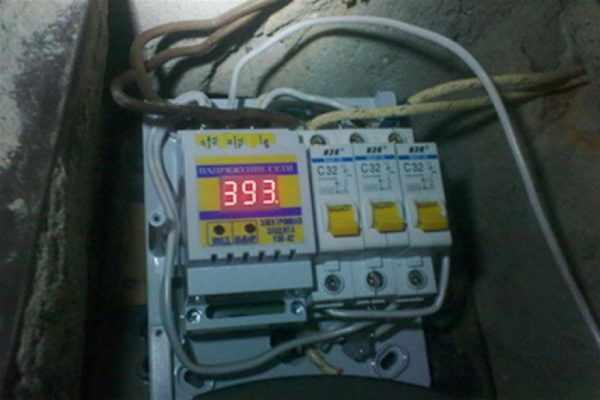 Скачок напряжения в электросети