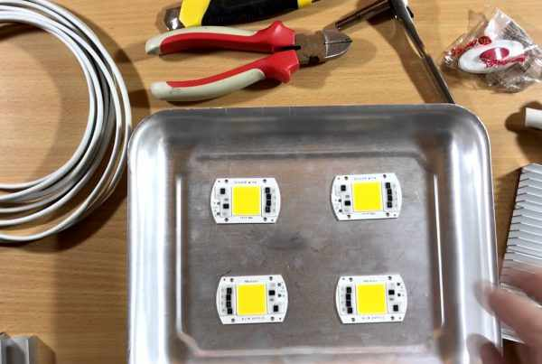 Изготовление LED-прожектора из подручных материалов