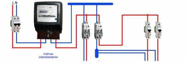 Схема подключения в однофазной сети без заземления