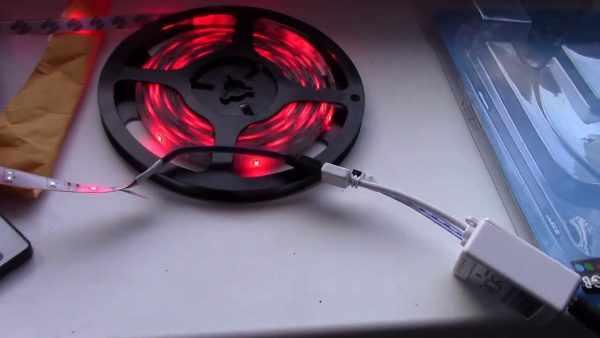 Подключение LED-ленты к блоку питания