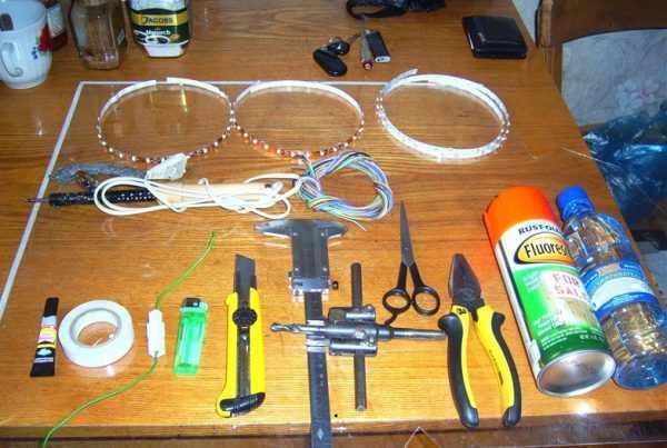 Инструменты и материалы для работы с LED-лентой