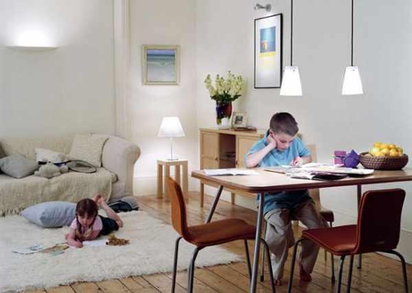 Принципы освещения детской комнаты