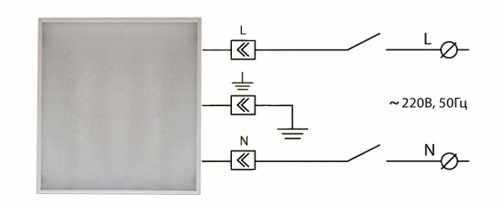 Схема подключения светодиодного источника света к сети